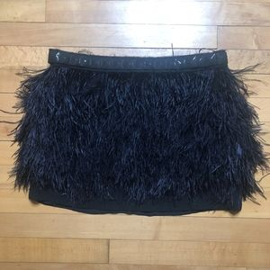 MICHAEL Michael Kors Tiered Marabou Mini Skirt